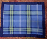 Jc Penney Navy Blue Plaid Pillow Shams Standard Size