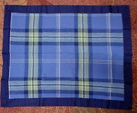 Jc Penney Navy Blue Plaid Pillow Shams Standard Size
