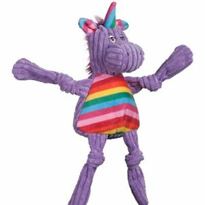 Hugglehounds-RAINBOW-UNICORN-KNOTTIE-Squeaker-Dog-Toy-SMALL