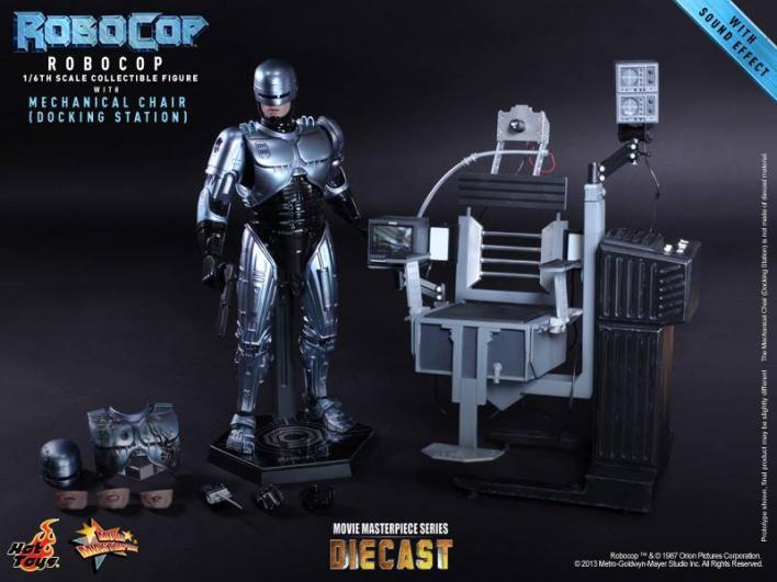Hot Toys 1 6 Robocop Con Silla Mecánica Estación De Acoplamiento MMS203 D05 Diecast