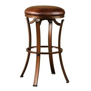 Hillsdale 4950 830 Kelford Backless Swivel Bar Stool New