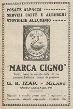 Z2023 Posate Alpacca MARCA CIGNO - G.B. Izar - Pubblicità d'epoca - Advertising