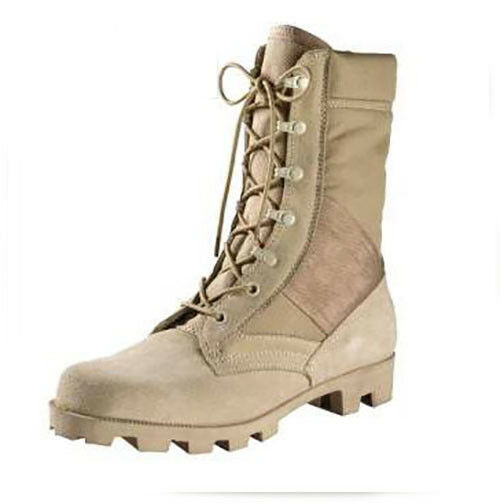 Desert Tan G.I. Type Speedlace Leather Panama Sole, Military Army Jungle Boot