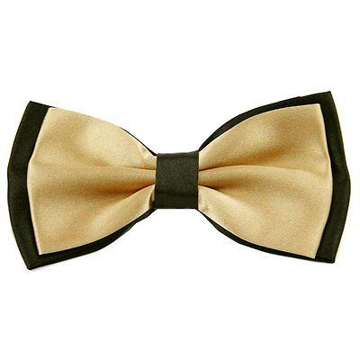 Tuxedo Men's Bowtie Adjustable Wedding Party Satin Silk Beige Bow Tie BT33