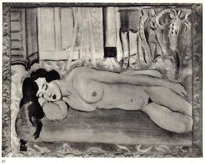 MATISSE-1935-LITHOGRAPH-w-COA-unique-Henri-Matisse-SENSUAL-and-SEXY-Rare-Art