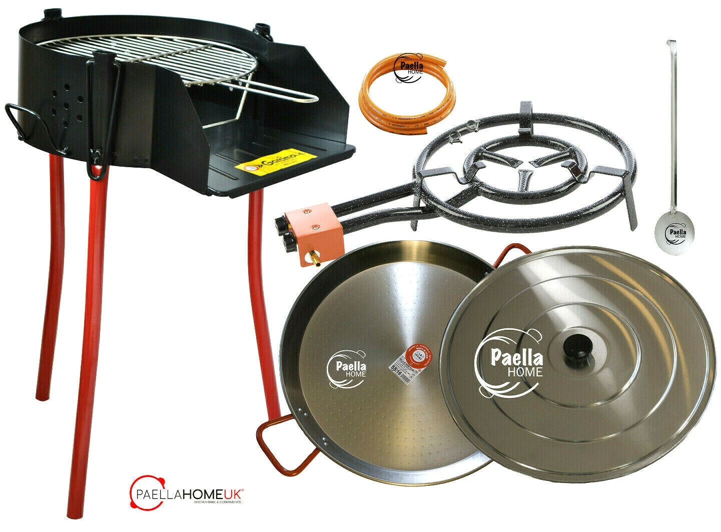 50cm Rustic BBQ & Paella Pan & Gas Burner Set - The Ultimate Original Summer Kit