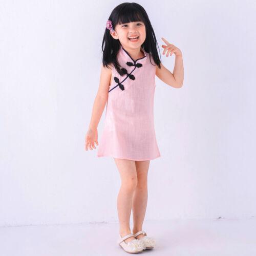 Kleinkinder Kinder Baby Mädchen Sommer Prinzessin Cheongsam Kleid Party Hochzeit