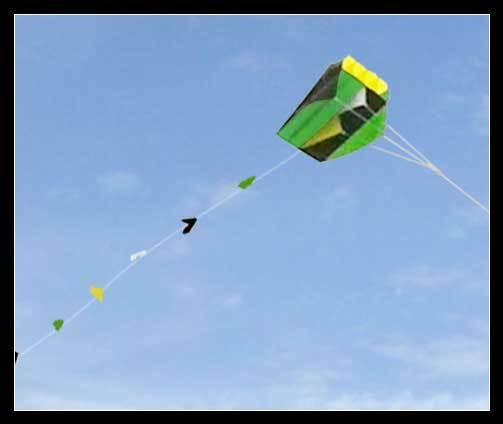 Ligne simple parafoil pocket kite & longue queue en sachet sachet sachet facile fly outdoor fun vert b0376e