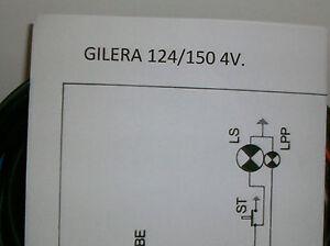 Schemi Elettrici Elettrodomestici : Impianto elettrico electrical wiring moto gilera 124 150 4 velocita