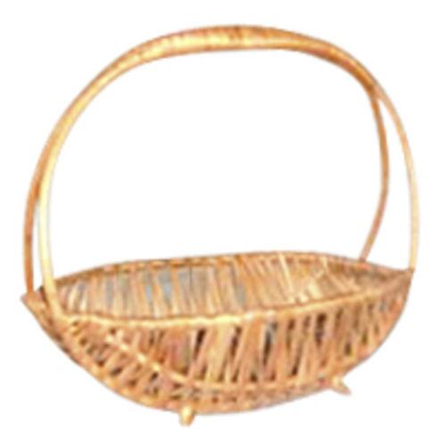 Disraeli Wicker Basket Oval in Gold Handle Single 15x21x21 cm