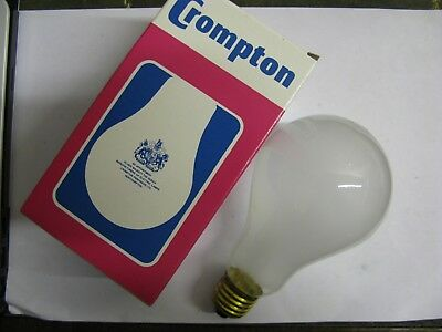 1 x THORN EMI 200W B22 BC Lamp Genuine Vintage 70/'s 240V Light Bulb Retro PEARL