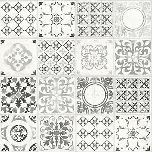 Image Is Loading Grandeco Wallpaper Luxury Porto Tile Moroccan Design