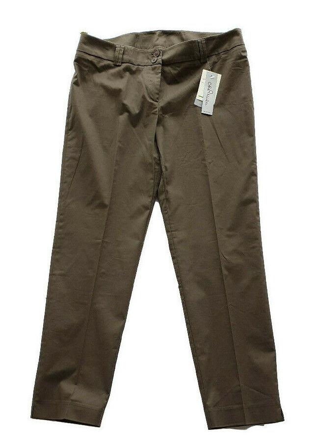 Pantalon Capri 3/4 Femme Lumière Classique Élégant Brun Carmen Taille 50