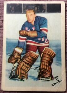 1953-54-Parkhurst-53-Lorne-034-Gump-034-Worsley-ROOKIE-CARD-VG-Condition-SOLID-CARD