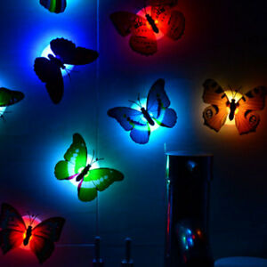 Color Changing Butterfly LED Night Light Lamp Bedroom Wall ...