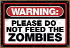Aquarius Officially Licensed Zombie Warning Designed High Quality Tin Sign