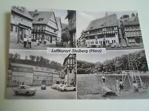 Vintage-Real-Photo-Postcard-LUFTKURORT-STOLBERG-HARZ-Postally-Used-A1360