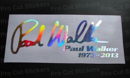 Paul Walker Signature Rip Memorial Tribute Custom Silber Hologramm Chrom