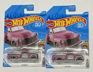 2018  Hot Wheels  Pink /'52 Chevy Pickup   Metro Series   Card #207   HW47-070318