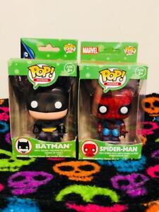 Funko Vinyl Target Exclusif Mini Pop Batman & Spider-Man Fêtes 2014 Noël