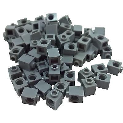 Lot of 50 Technic 1x2 Bricks Dark Bluish Gray 1 Hole