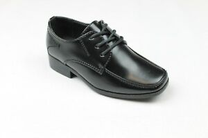 Boys Smart Formal Shoes Black Laces