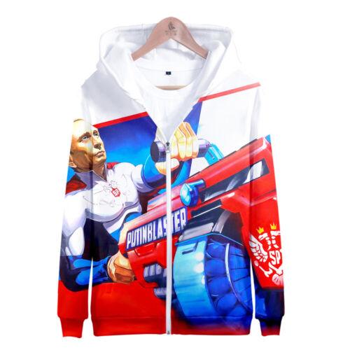 Men Women Hoodie Costume Zipper Coat 3D Vladimir Putin Print Pullover Tops