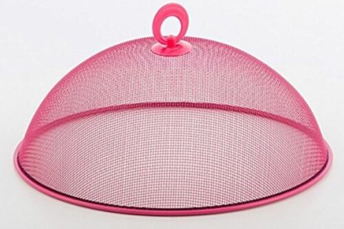 2 x 30cm LARGE ROUND DOME METAL MESH FOOD COVER HIGH QUALITY PRODUCT KITCHEN