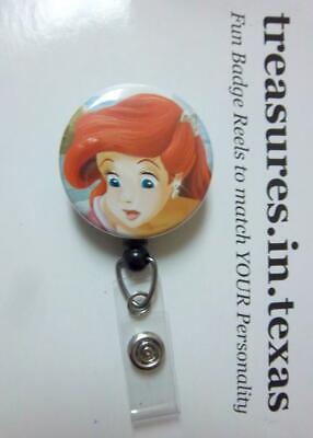 Ariel The little mermaid lot of 3 work Retractable Reel ID Badge Holder nurse