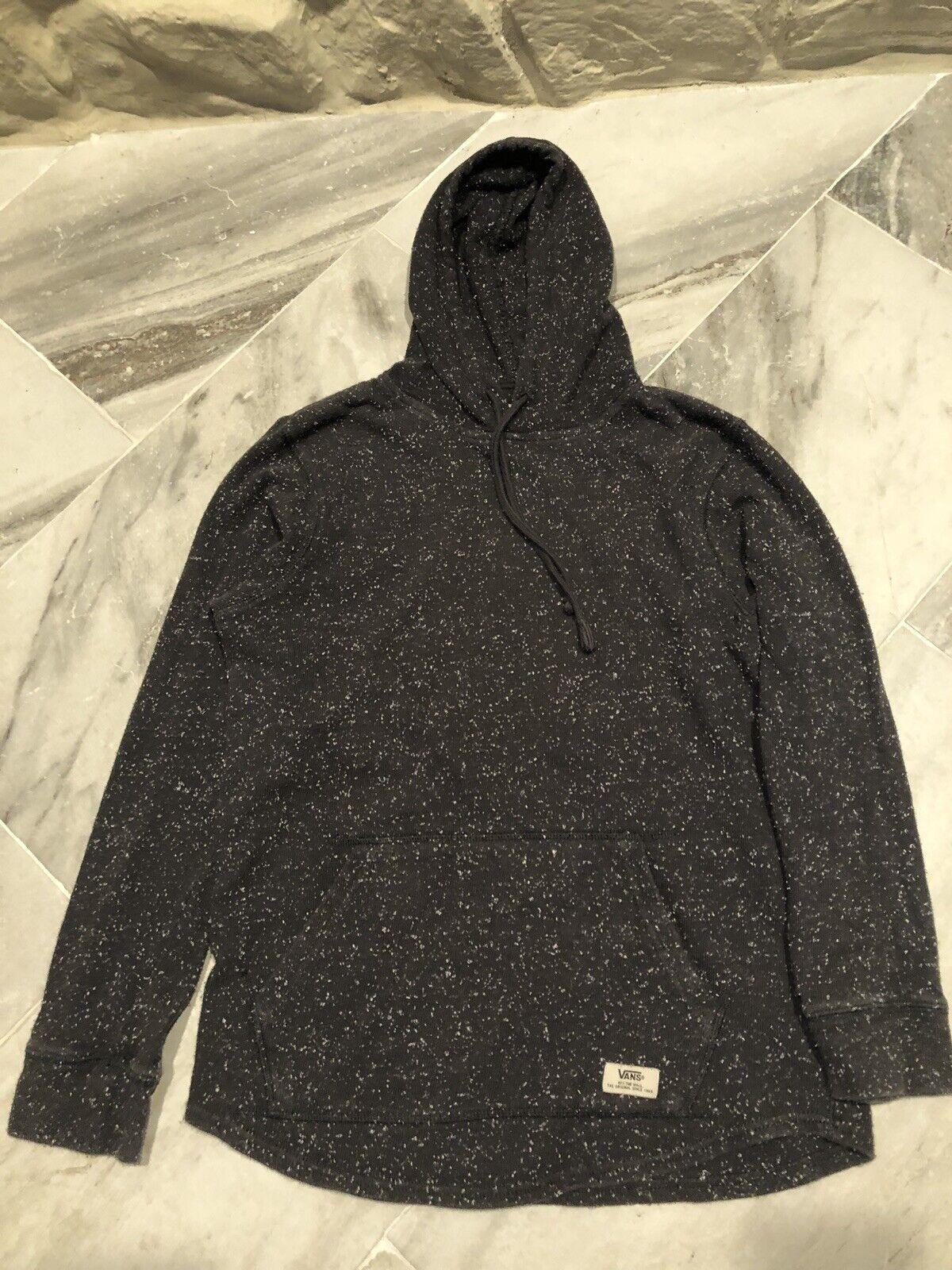 Vans Gray Hoodie Sweatshirt/Hooded Sweater Unisex Size Small Speckled Print