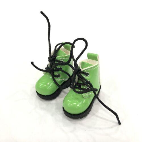 D02 Blythe Lati Yellow 1//12 Doll Shoes Green Flat Martin Boot