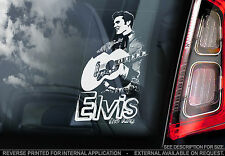 Elvis Presley - Car Window Sticker - The King Rock'n'Roll Music Sign Decal - V02