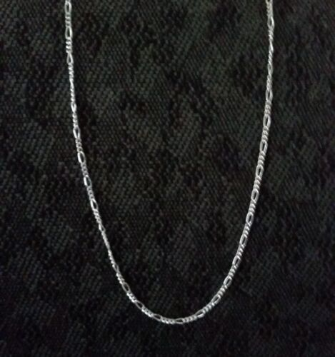 Figaro Chain Necklace .925 Sterling Silver GD