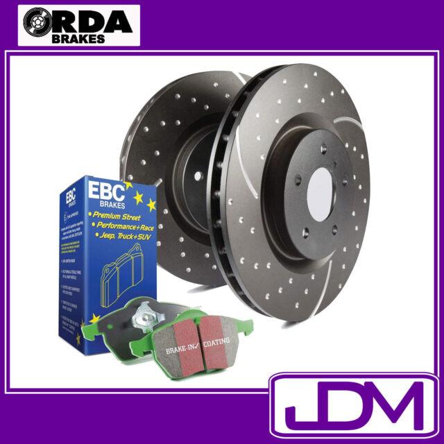 TOYOTA LANDCRUISER 80 HDJ80, HZJ80 - RDA SLOTTED Rear Rotors & 4X4 GREEN Pads