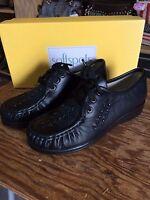 Women's Softspot Bonnie Lite Black Leather Shoe 114801