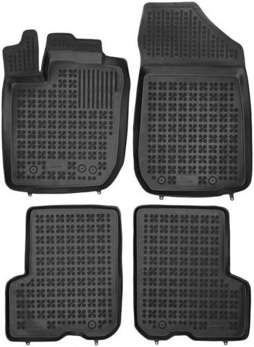 ab 2013 4-teilige schwarze Gummifußmatte für DACIA Logan II MCV Bj