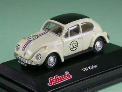 """Neu Schuco 21888-1//87 Volkswagen Vw Käfer /""""Rallye #53/"""" Herbie"""