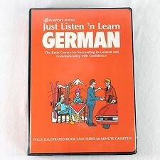 Passport Books Just Listen N Learn German 3 Cassettes Book 1990 Language Course