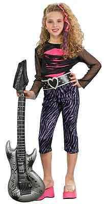 Rock Star Girl Pop Rocker Chick Punk 80's Fancy Dress Halloween Child Costume