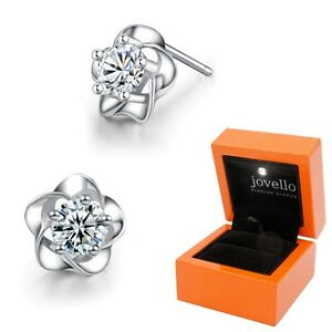 Zirkonia-Blumen-Ohrstecker-aus-925-Silber-Sterlingsilber-Luxus-LED-Schmuckbox