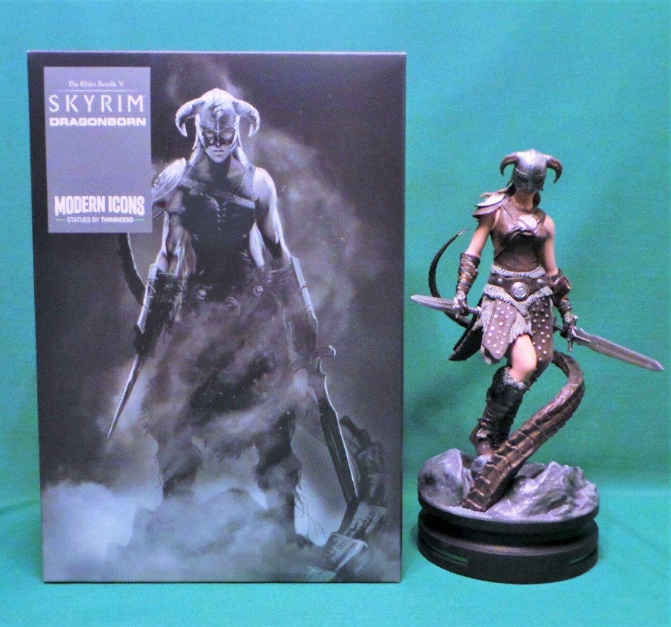 Modern Icons  4 The Elder Scrolls V: Skyrim Female Dragonborn Statue Figure NIB