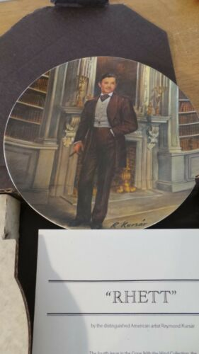 "Gone With The Wind Fine China By knowles Collector Art Plate ""Rhett"""