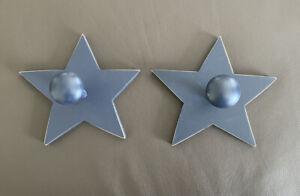 Set-Of-2-POTTERY-BARN-KIDS-Wooden-Blue-Stars-HOOK