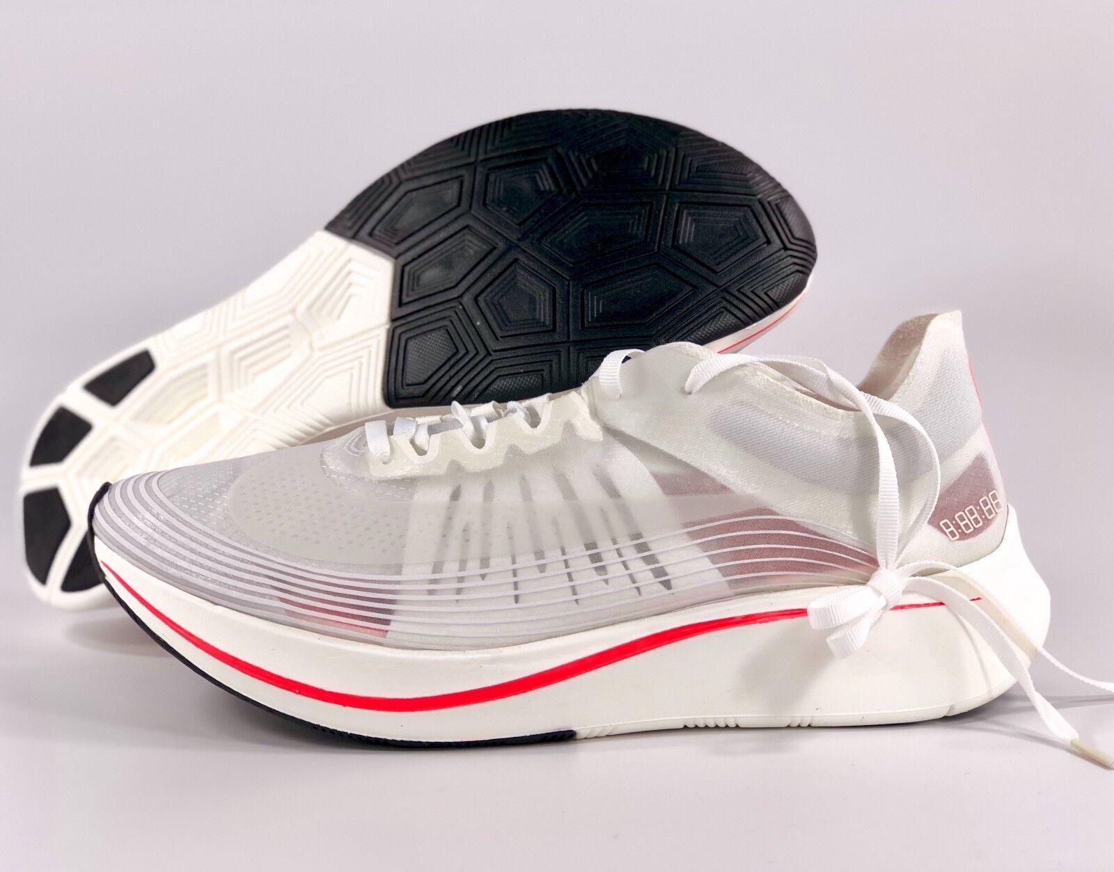 Nike Zoom Fly SP Breaking 2 White Sail Bright Crimson Red AJ9282-106 Men's 8-12