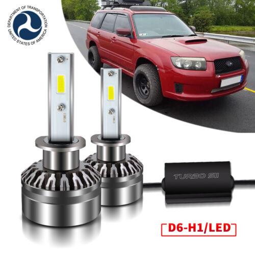 Pair LED Headlight Bulb Conversion Low Beam 6000K For Subaru Forester 2007-2008