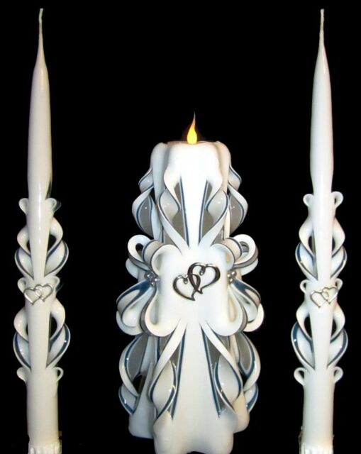 Halloween goth Corpse Bride Wedding Unity Candle Candles w// NAMES CUSTOM COLORS