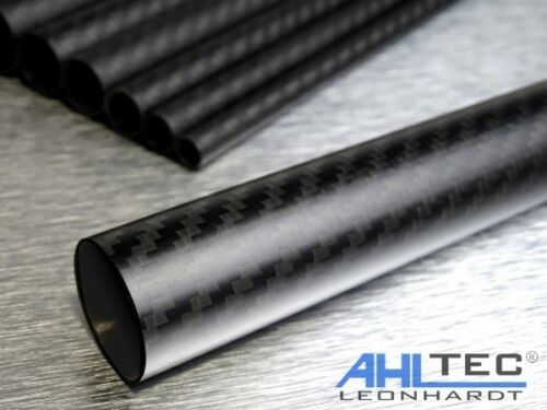 Sichtcarbon CFK Kohlefaser Tube 3K Köper Länge wählbar Carbon Rohr Ø 30mm
