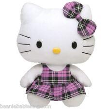 "TY Beanie Buddy * Hello Kitty Viola a Quadretti/tartan * 10"" ""Tall Buddies 90113"