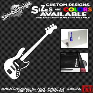 Bass-Guitar-Custom-Vinyl-sticker-Jazz-Laptop-Car-Window-Gibson-Fender-Music