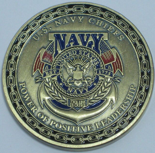 U S  NAVY CHIEFS DON'T TREAD ON ME CHALLENGE COIN